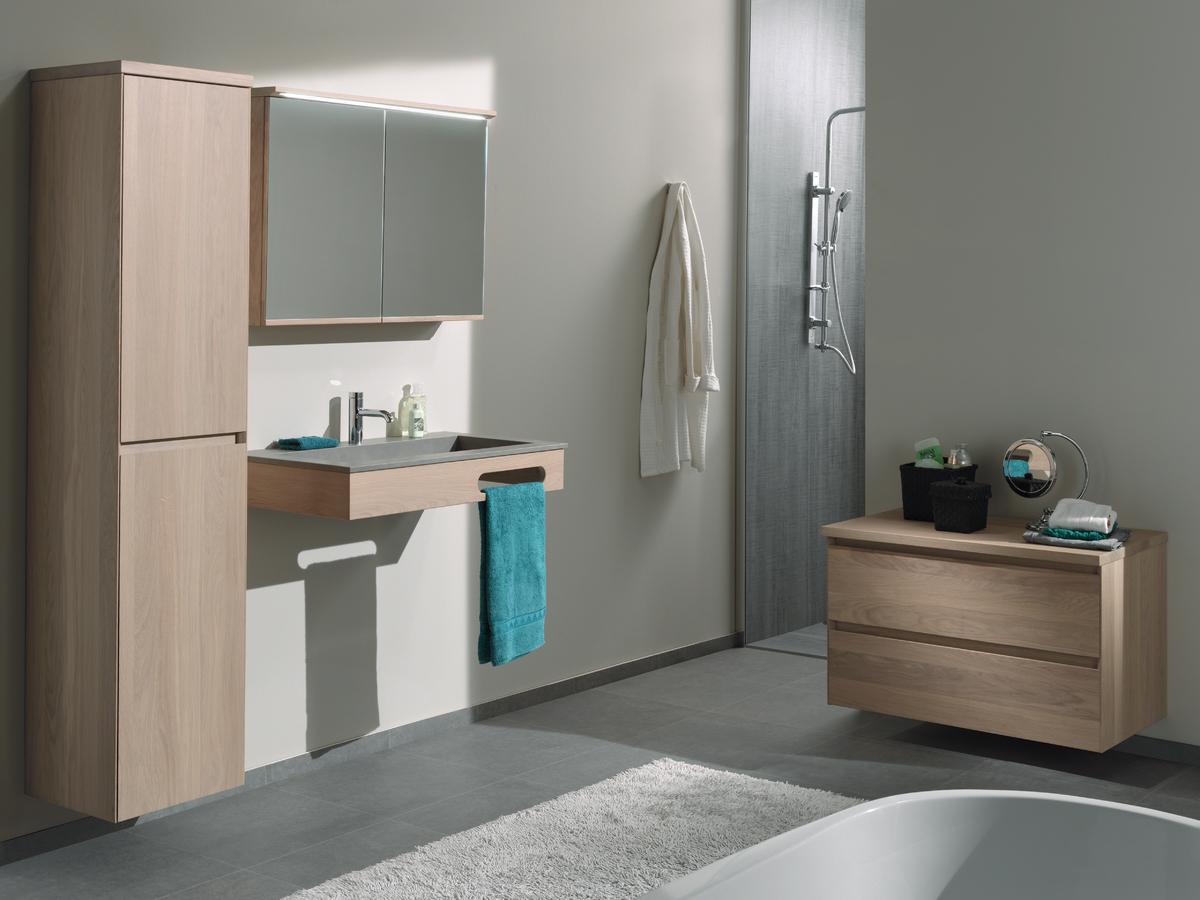 Ontdek ons modern badkamermeubel chablis - Eigentijdse badkamer grijs ...