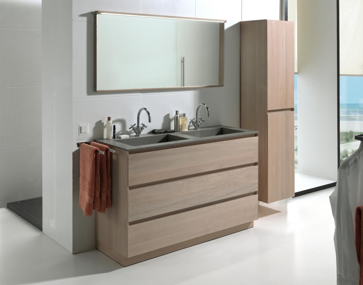Badkamer Onderkast Hout : Ontdek ons modern badkamermeubel chablis