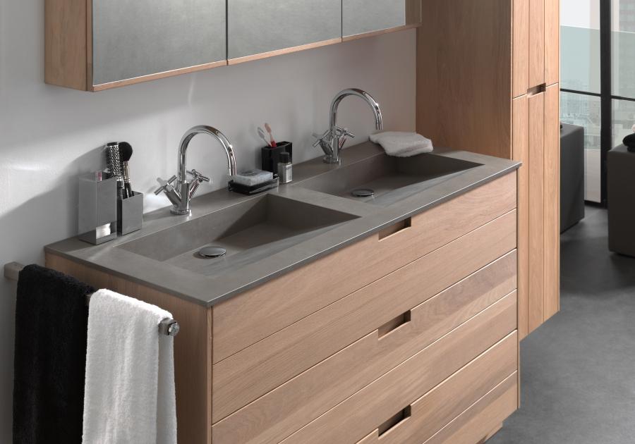 Hoogte Werkblad Badkamer : Met oak u haalt u de natuur binnen in uw badkamer