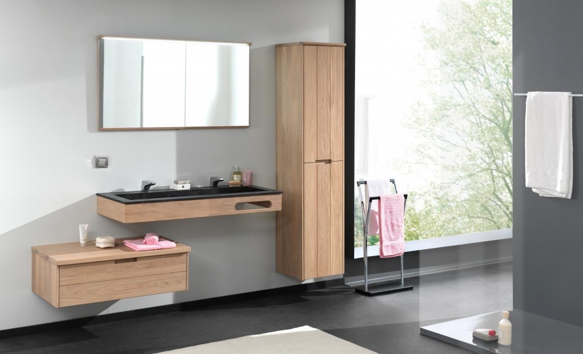 Houten Onderkast Badkamer : Ontdek ons landelijk badkamermeubel margaux